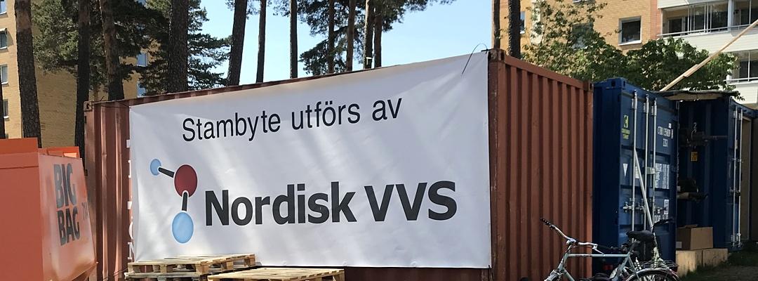 Nordisk VVS utför stambyte åt Brf Norrhöjden i Kungsängen.