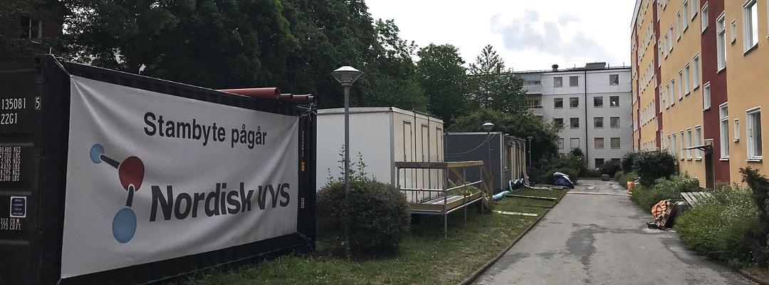Stambyte i Brf Apoteket i Sundbyberg